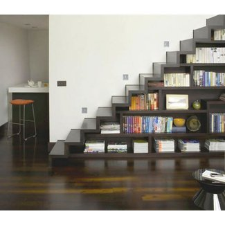Space Saving Stairs for Bookshelves | My Home Style