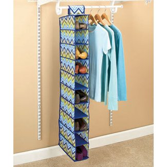 SPACE SAVING ZIGZAG 10-COMPARTMENT CLOSET SHOE STORAGE ...
