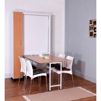 Spaceone Space Saving Single Bed cum Dining Table cum ...