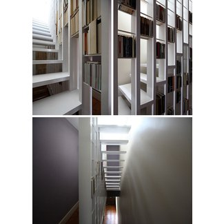 Staircases With Integrated Bookshelves - Stylish Space ...