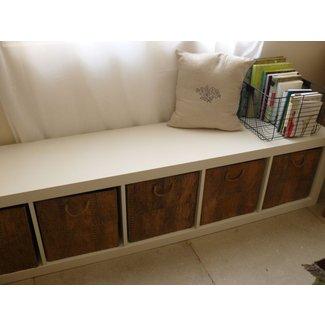 Storage Bench Under Our Bedroom S Window Ikea Expedit