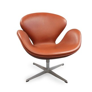 Swan Chair Elegance Walnut Leather