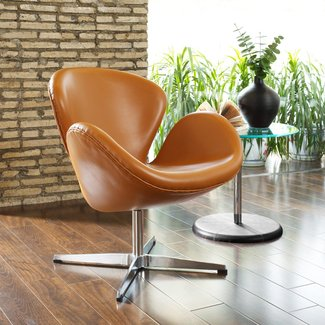 Swan Chair Reproduction - Leather Swan Chair