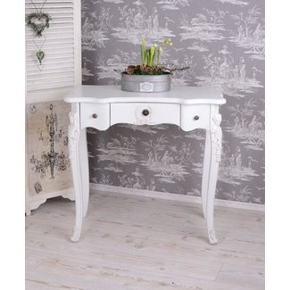 Table Console Shabby Chic Sideboard Table White Women's ...