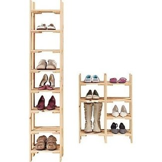 tall narrow shoe rack