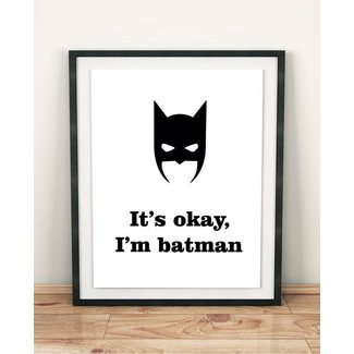 teen boy gift teen boy room decor Batman home decor