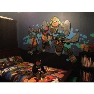 Teenage Mutant Ninja Turtle bedroom mural. Work in ...