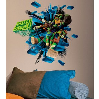 Teenage Mutant Ninja Turtles Brick Poster Giant Wall Decal ...
