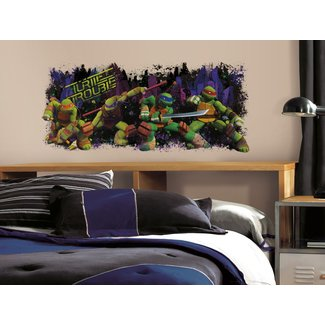 TEENAGE MUTANT NINJA TURTLES Trouble Mural Wall Decals ...