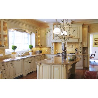 Terrific French Country Kitchen Decor With Broken White ...