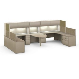 The Office Leader. Mayline CSII Modular 2 Person ...