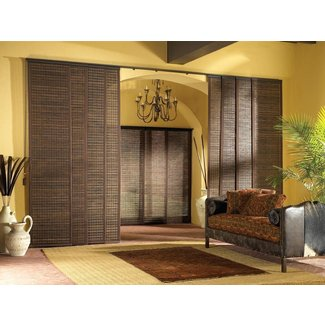 This is what i want. Sliding Panel Curtains Room Divider