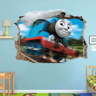 Thomas the tank, 3d wall and Engine on Pinterest