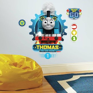 THOMAS THE TANK ENGINE RACING WALL DECALS Giant Boys Train