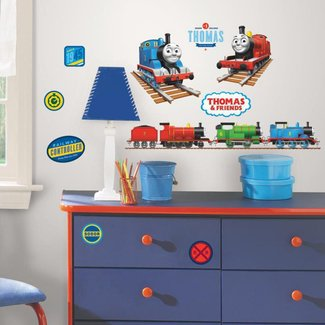 THOMAS THE TANK ENGINE wall stickers 33 decals trains room