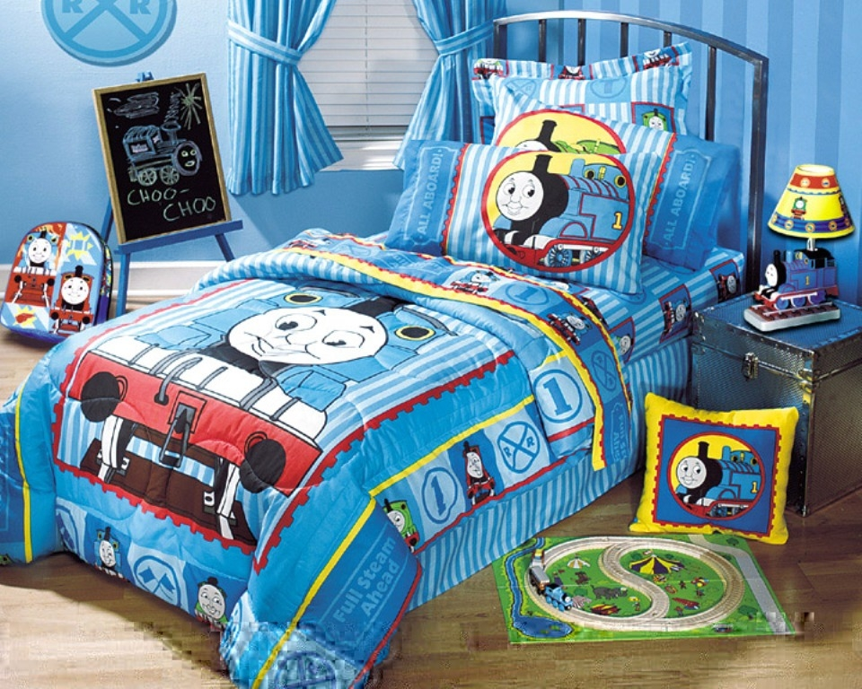 Ordinaire Thomas The Train Bedroom Decor Curtain U2014 Office And Bedroom