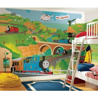 Thomas the Train Size Wallpaper Mural 9′ x 15′ |