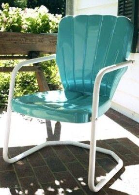 Thunderbird Style Metal Retro 1950u0027s Lawn Chair