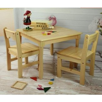 Tiger School furniture --square table with chairs ...