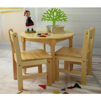 Tiger School wooden furniture --round table with chairs ...