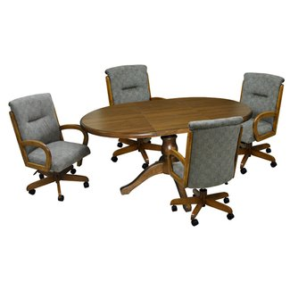 Tobias Designs - 42x42x60 Dinette with 265 Caster Chairs