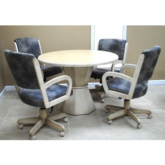 Tobias Designs - Dinette with Round Table 260 Caster Chairs