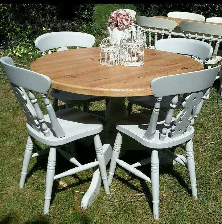 Incroyable Top 50 Shabby Chic Round Dining Table And Chairs
