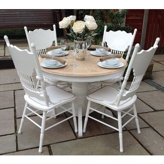 Top 50 Shabby Chic Round Dining Table and Chairs -
