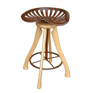Tractor Seat Stool by Brad Smith (Wood Stool) | Artful