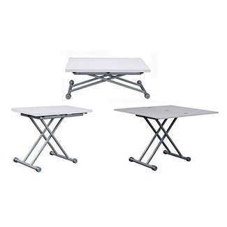 Transforming Coffee to Dining Expandable Table, White