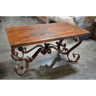 Two-colored wrought iron coffee table — Coffee tables ideas