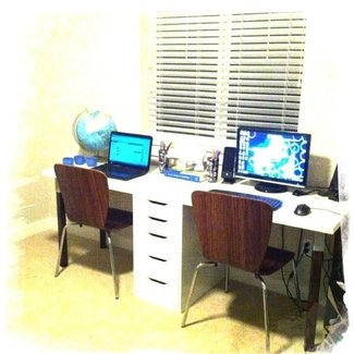 two person desk | DIY Ideas. | Pinterest