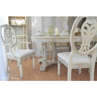 UNIQUE *** French Provence Shabby Chic Dining Table with ...