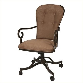 Upholstered Dining Arm Chair Dinette Chairs With Casters