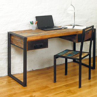 Urban Chic reclaimed wood office laptop computer desk ...