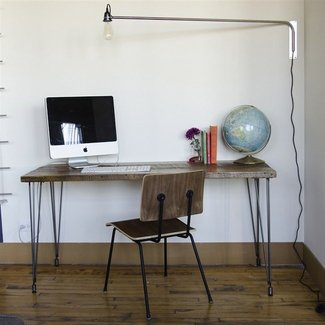 Urban Loft Reclaimed Wood Desk | Custom woodworking ...