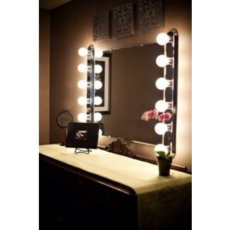 Vanity Bulb Mirror Globorank Pertaining To Vanity Mirror ...