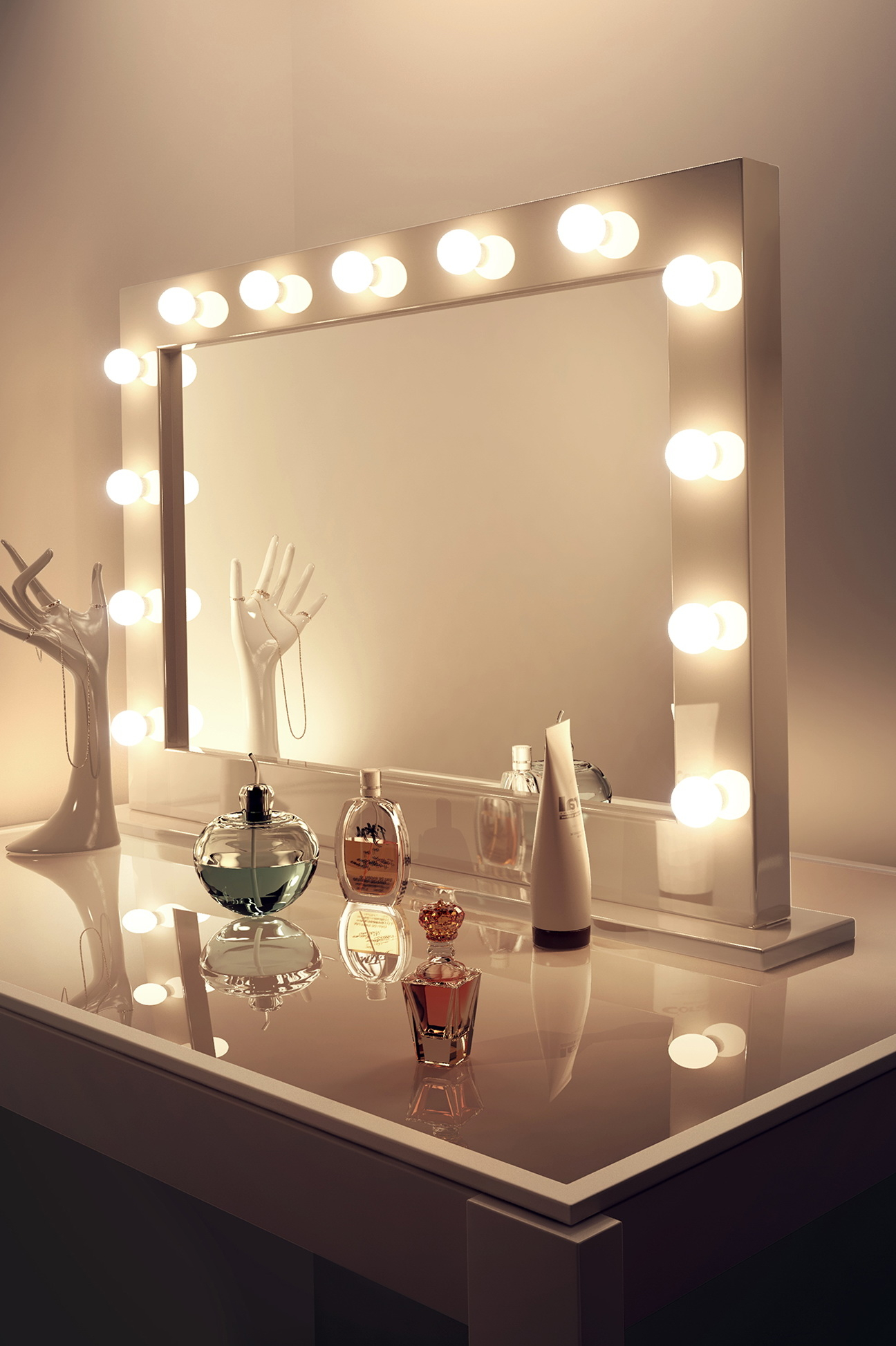 Mirror with lighting Dressing Table Vanity Makeup Mirror With Light Bulbs Home Design Ideas Visual Hunt 50 Vanity Mirror With Light Bulbs Up To 70 Off Visual Hunt