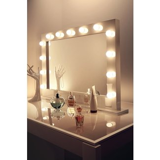 Vanity Makeup Mirror With Light Bulbs Home Design Ideas ...