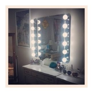 Vanity Mirror With Light Bulbs Around It | lightupmyparty