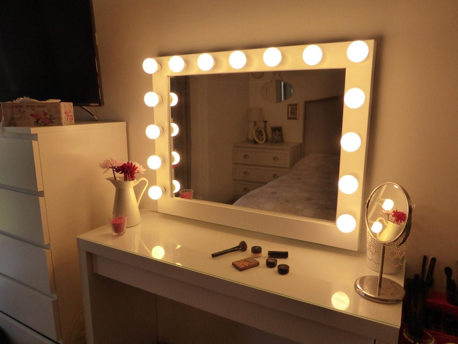 Bon Vanity Table With Lighted Mirror Ikea U2013