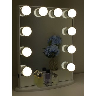 Vanity With Lights Around Mirror | Campernel Designs
