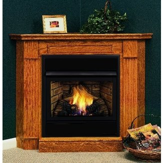 Ventless Gas Fireplace - Monessen Hearth Saver 24 inch ...
