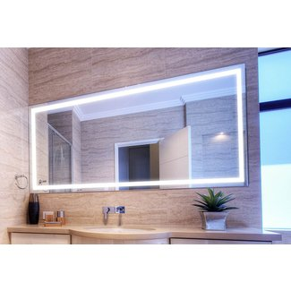 Verge Bathroom Lighted Mirror - Vanity, LED, by Clearlight ...