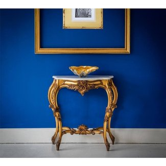 Versailles Gold Shabby Chic Console Table (Small)