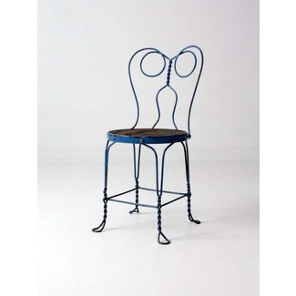 Vintage Blue Ice Cream Parlor Chair | Chairish