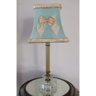 6ea76edbce2 Vintage Clip on Shabby Chic Celluloid Lamp Shade