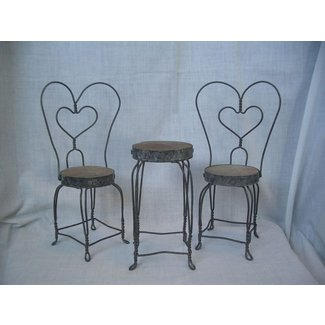 Vintage Doll 39 S Ice Cream Parlor Table And Chairs