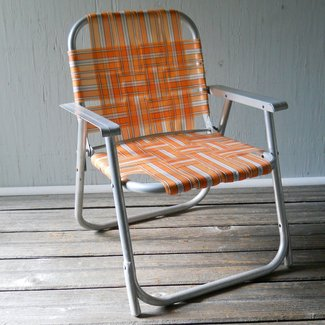Vintage Folding Lawn Chair Child's Aluminum Folding Chair ...