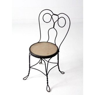 Vintage Ice Cream Parlor Chair | Chairish